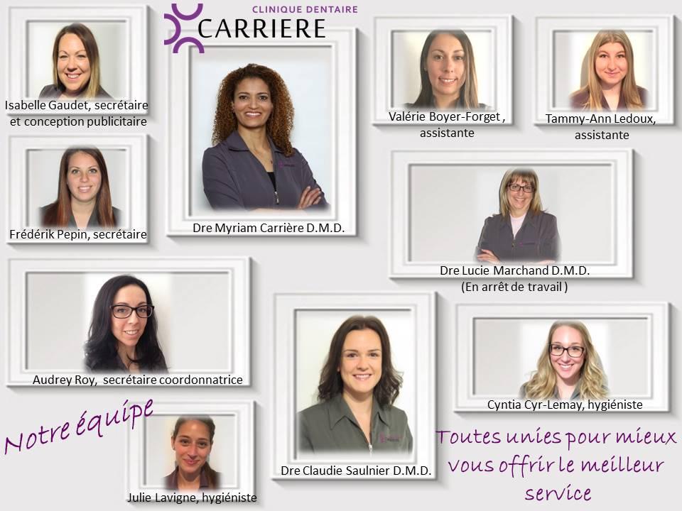 Clinique dentaire Carrière -Equipe